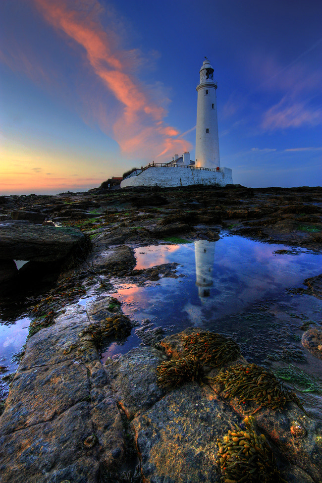 Photograph St Mary's lighthouse portrait by Angi Wallace on 500px
