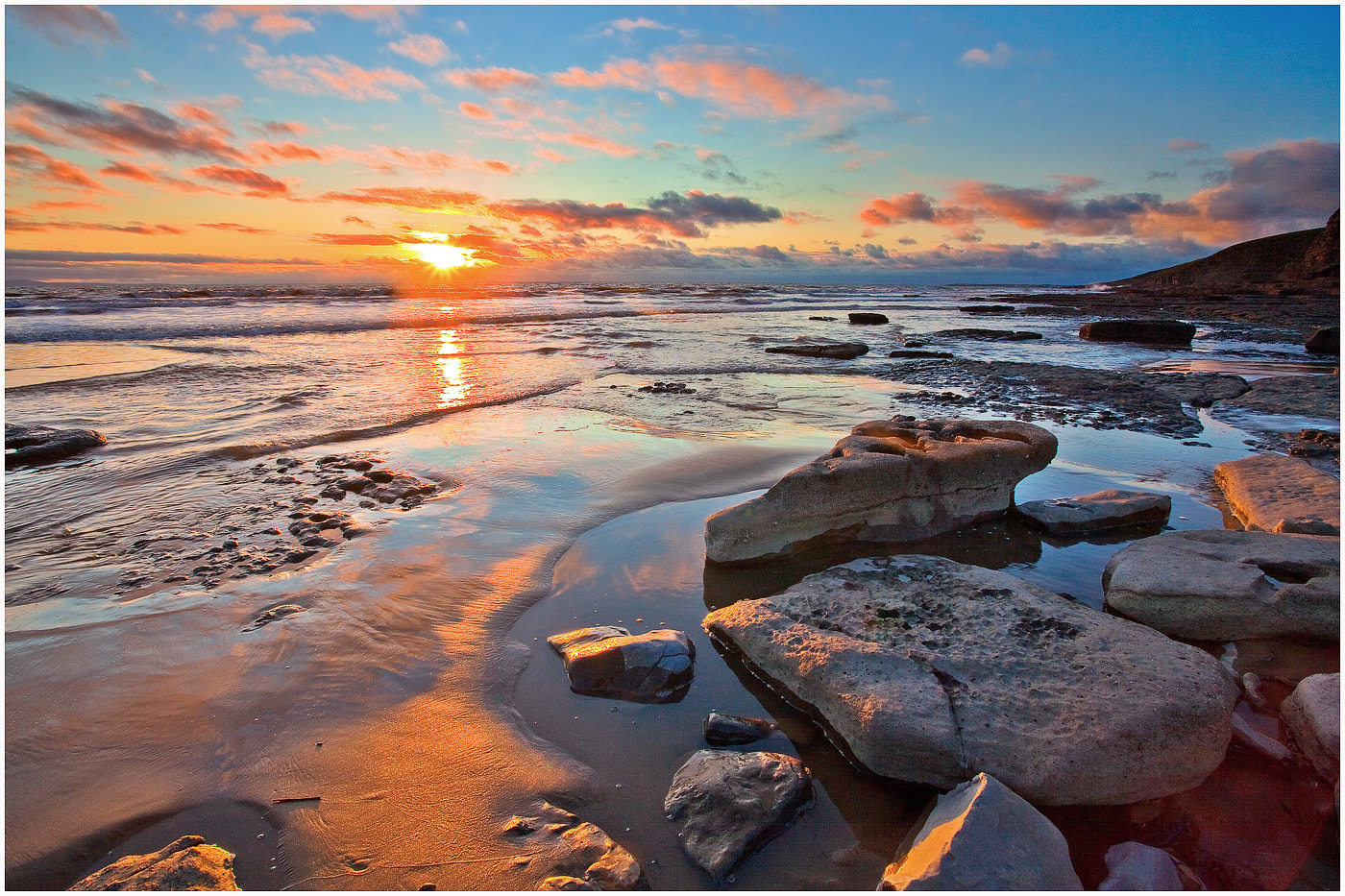 Photograph Sunset on Dunraven by Alan Coles on 500px
