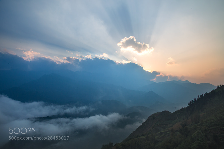 Photograph Sunset in LaoChai by Hai Thinh on 500px