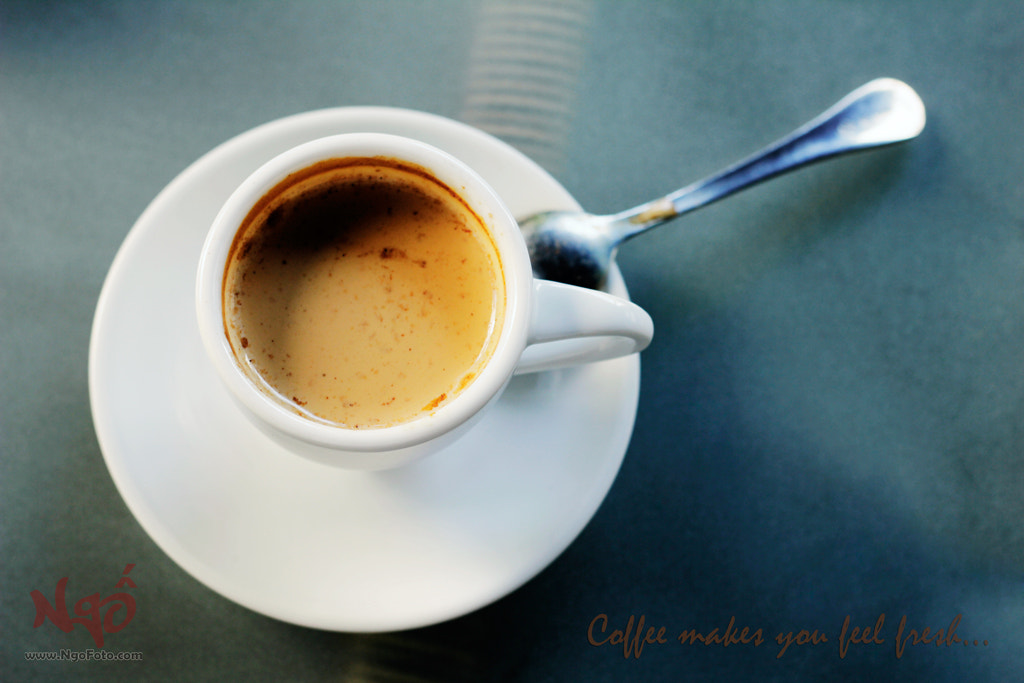Photograph Coffee makes you feel fresh... by [Ngố] Photo on 500px