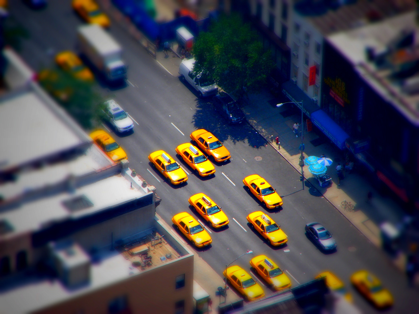 Photograph Tilt shift taxis by Ananthanarayanan Subramanian on 500px