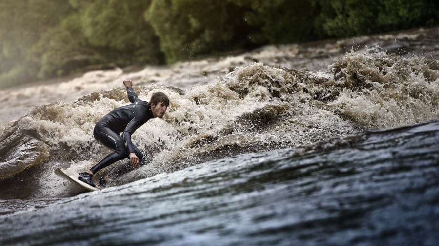 Photograph Riversurfing by Philip  Platzer on 500px