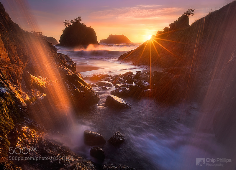 Photograph Ocean Waterfall Oregon Coast by Chip Phillips on 500px