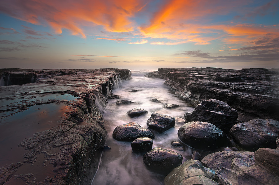 Photograph Rocky path to dawn.. by Zelda T on 500px