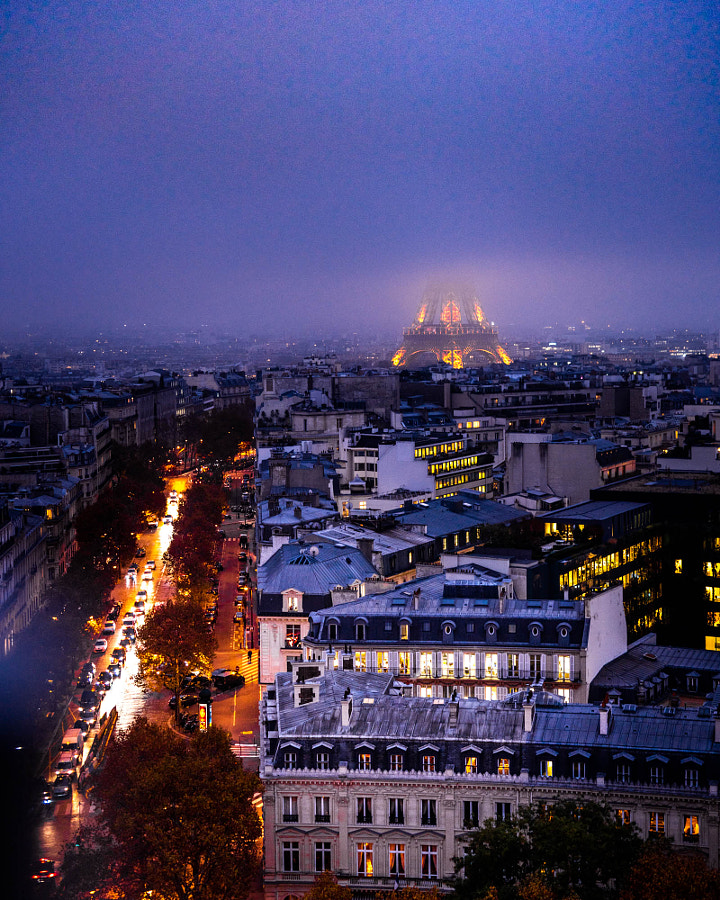 Paris in Fog by Serge Ramelli on 500px.com