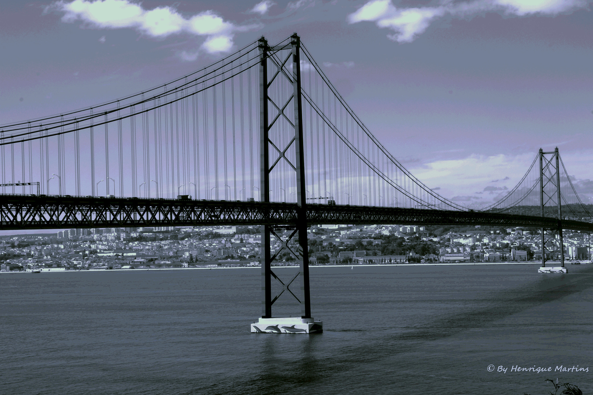 Photograph Ponte 25 de Abril BW by Henrique  Martins on 500px