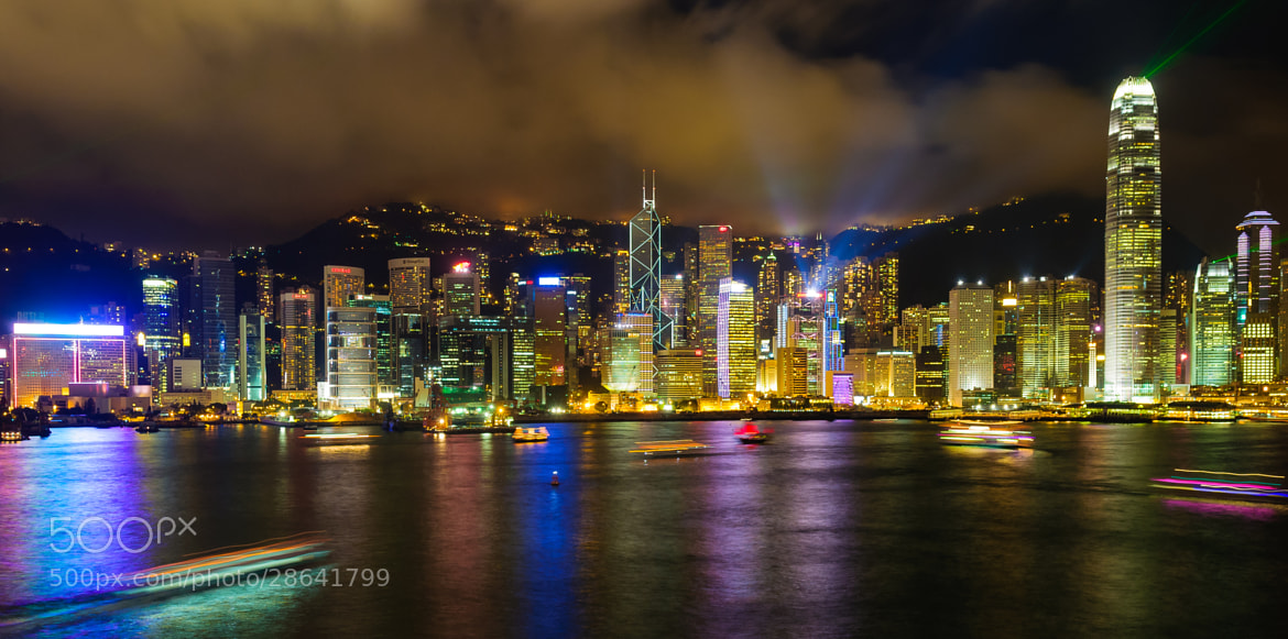 Photograph Hong Kong at Night by Jason Waltman on 500px