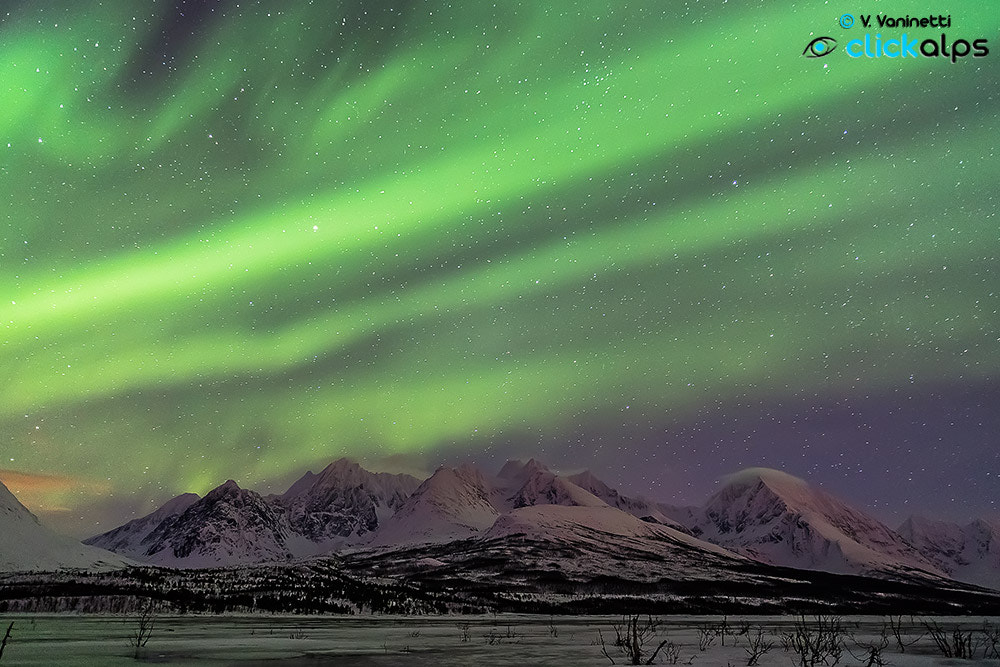 Photograph Aurora Borealis in the Lyngen Alps by Vittorio Vaninetti on 500px