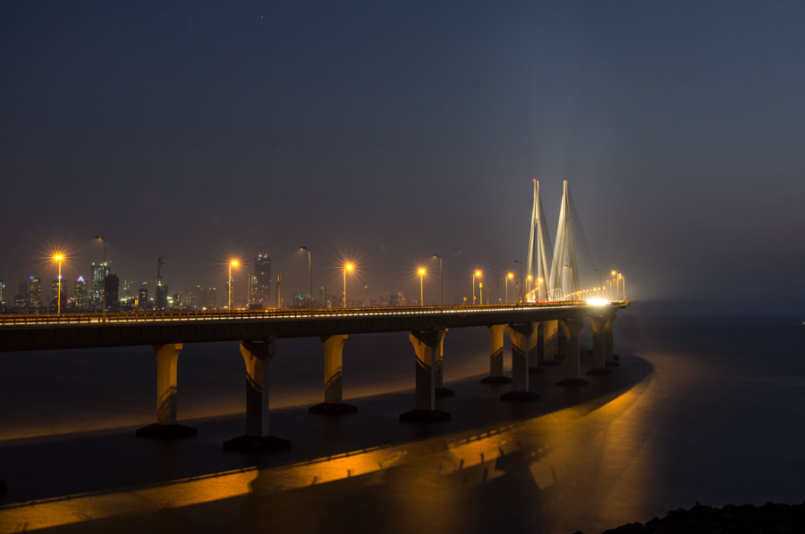 Sea Link at night by Brendon Fernandes on 500px.com