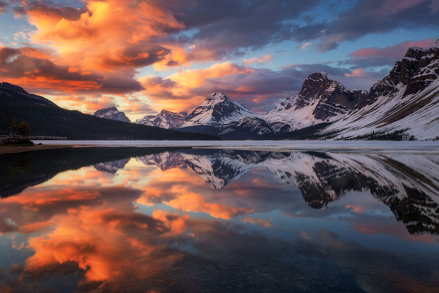 The splendour of Bow Lake by Annie Fu on 500px.com
