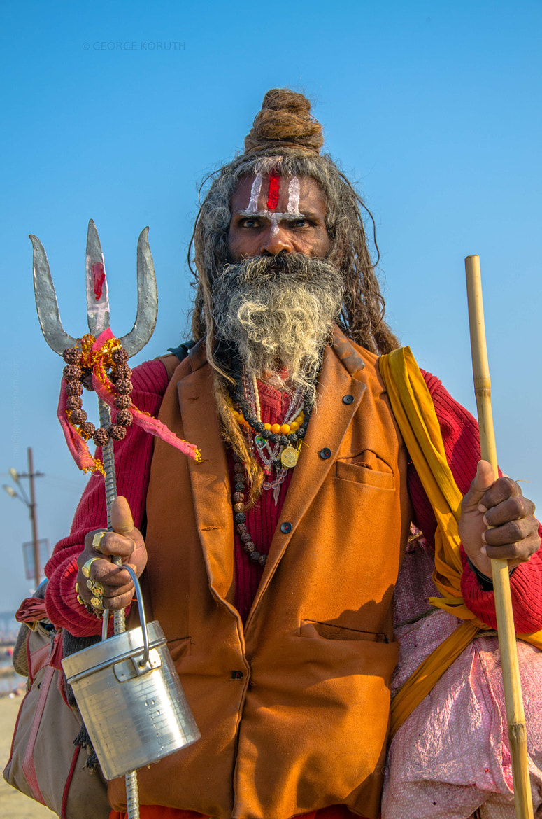 Photograph Every Sadhu was unique and had his signature look. by George Koruth - fotobaba on 500px