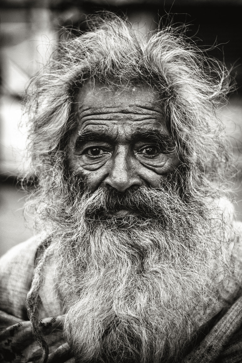 Photograph Old Indian Baba by Steven Beckett on 500px