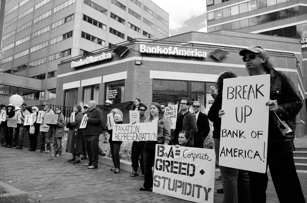 Photograph Occupy Maine, Bank of America Protest by Heath Bouffard on 500px