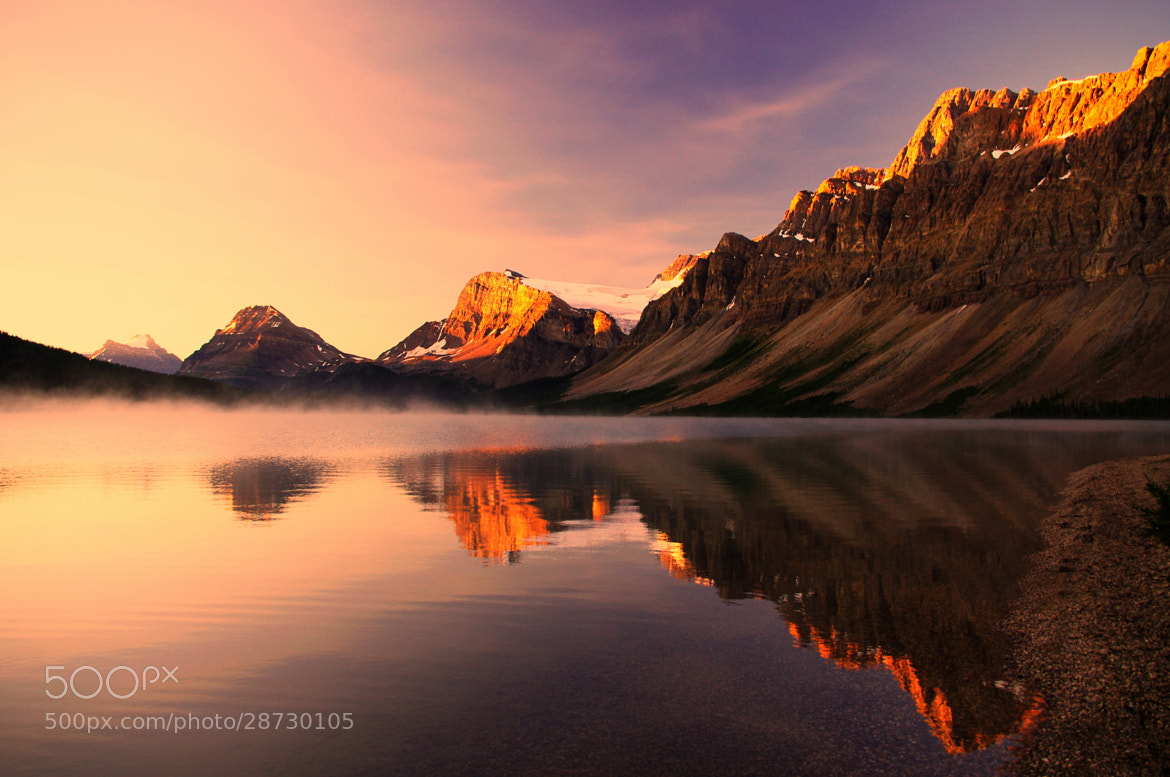 Photograph Sunrise at Bow lake by Jag Canape on 500px