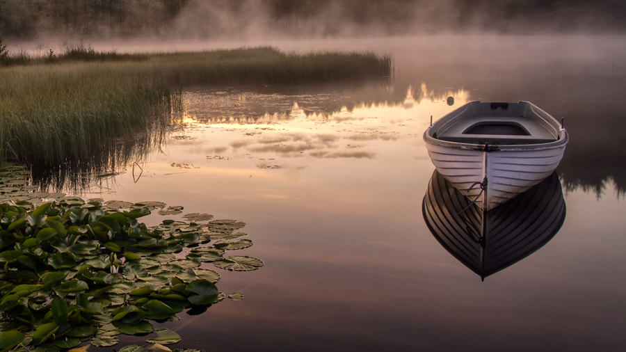 Photograph Loch Rusky in the gloaming.... by David Mould on 500px
