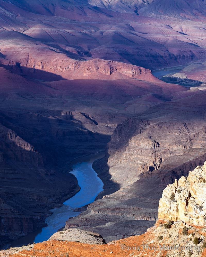 Photograph Afternoon Shadows, Colorado River and Grand Canyon by Troy Montemayor on 500px