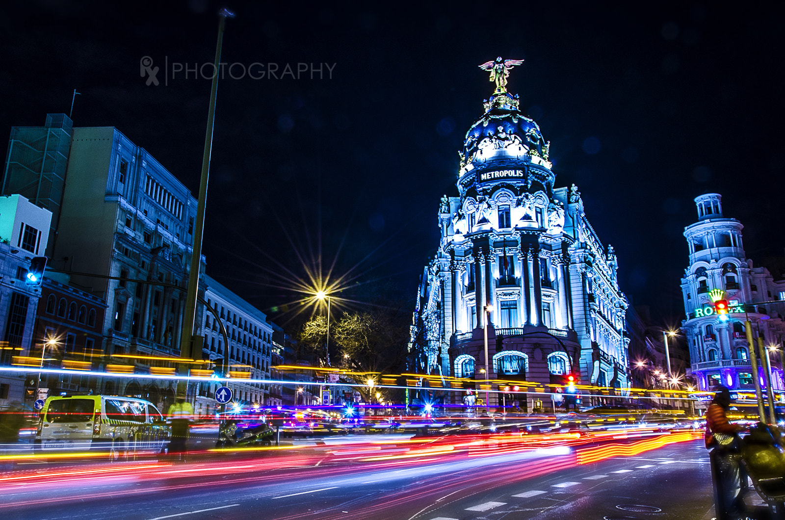 Photograph Magic Night (Gran Vía Madrid) by Rui Xu on 500px