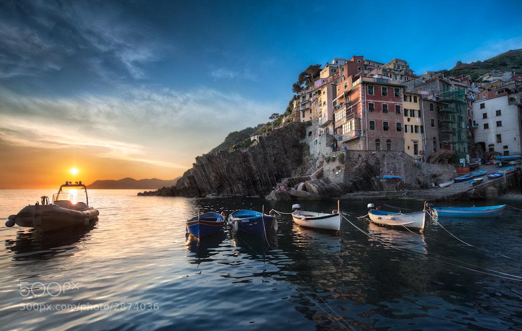 Photograph A Riomaggiore Sunset, Cinque Terre  by Elia Locardi on 500px