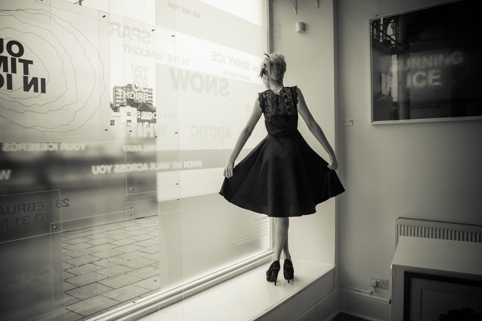 Photograph Ballerina in the window by Photocillin  on 500px
