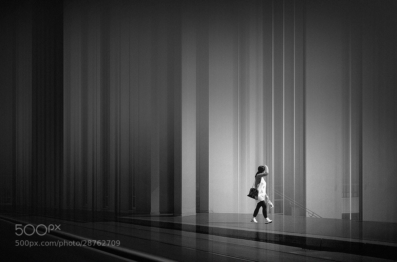 Photograph citygirl b&w by Max Ziegler on 500px