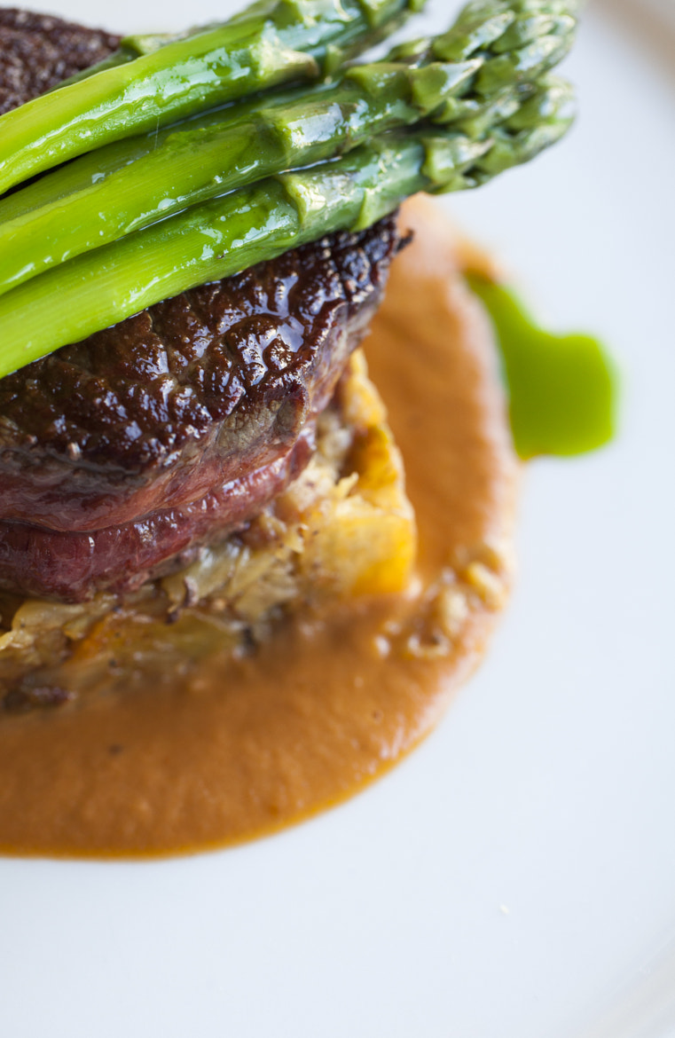 Photograph rib-eye with potato hash and asparagus by alison christiana on 500px