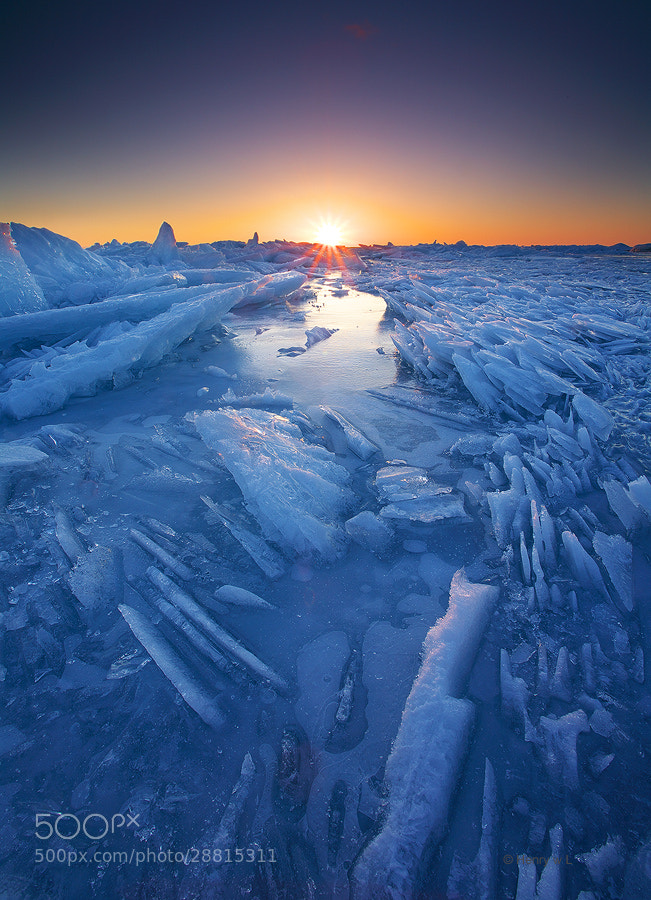 Photograph Sunset on an Ice World by Henry Liu on 500px
