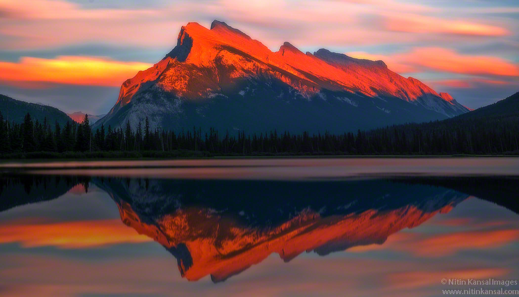 Photograph Last Light Mt Rundle by Nitin Kansal on 500px