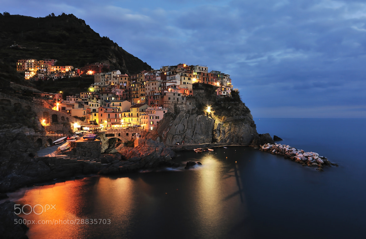 Photograph Manarola at sunset by Giorgio Dellacasa on 500px