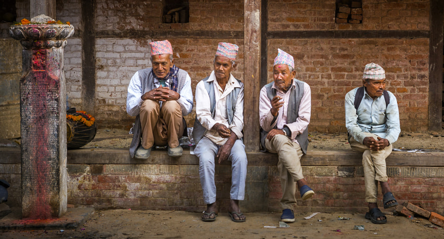 Men of  Bhadgaon by Trish Wilson on 500px.com