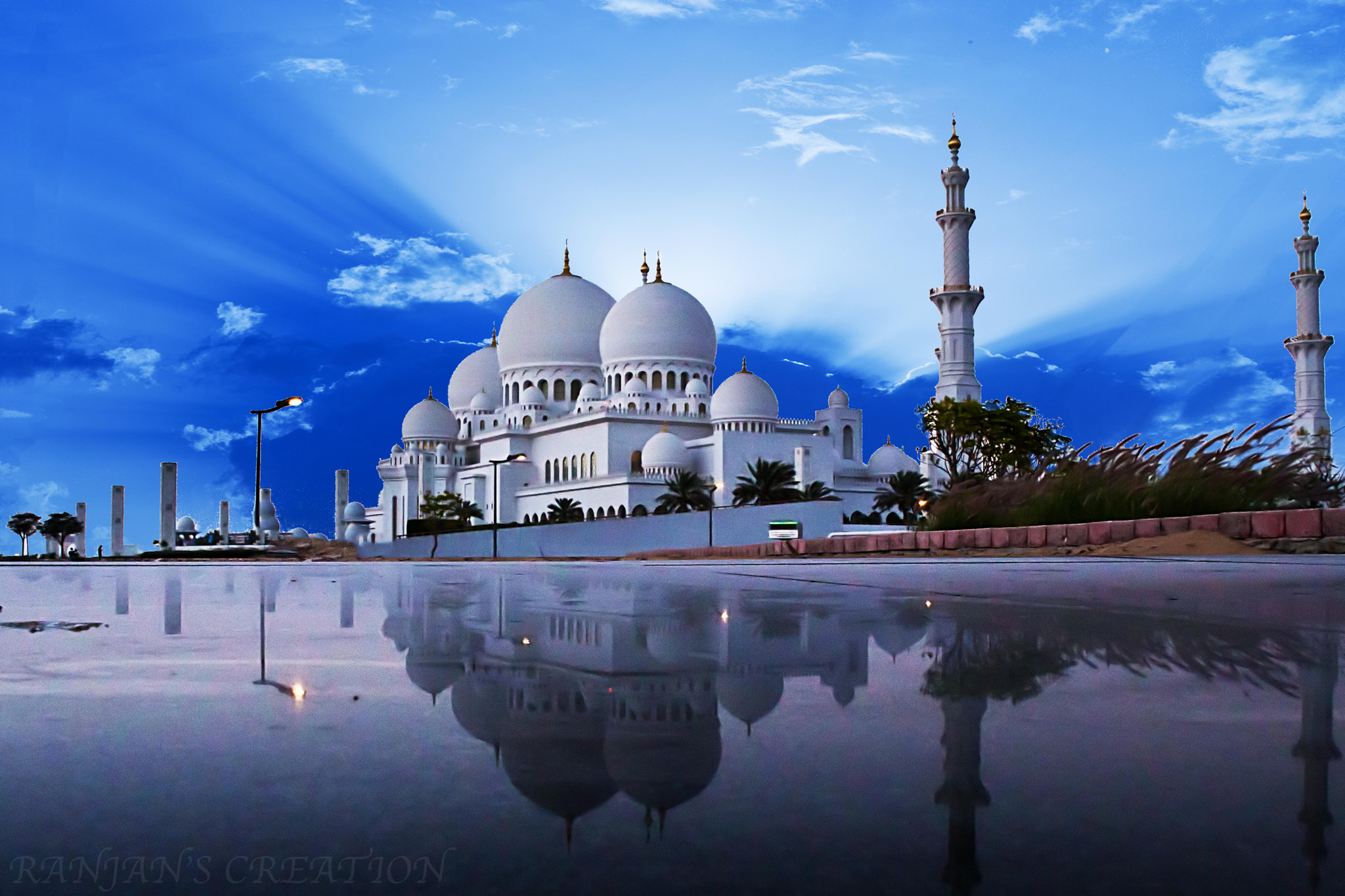 Photograph Grand Mosque Abu Dhabi by RANJAN SM on 500px