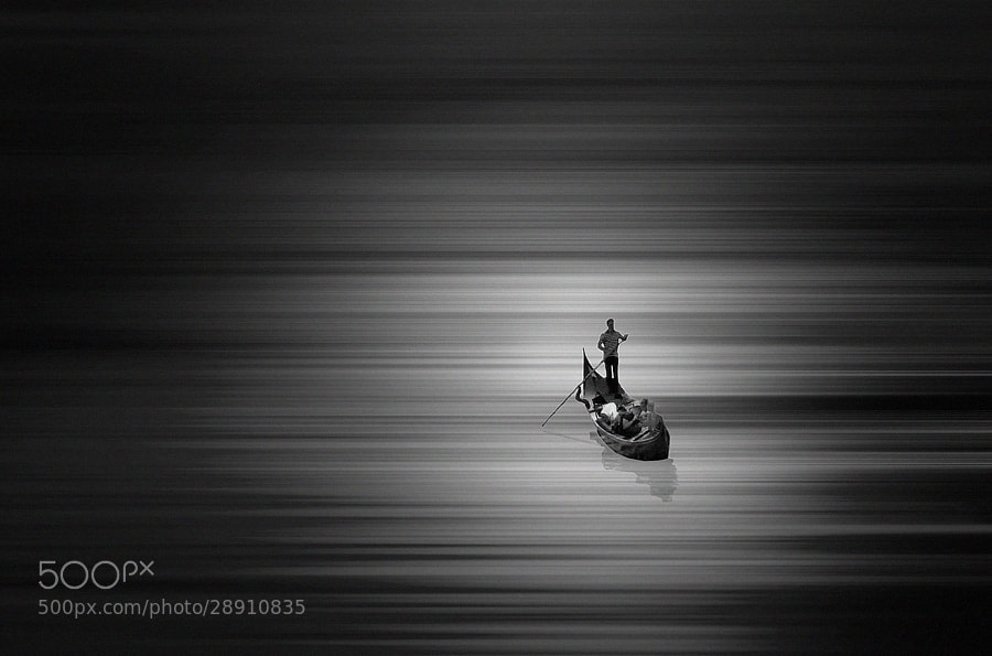 Photograph  the gondolier b&w by Max Ziegler on 500px