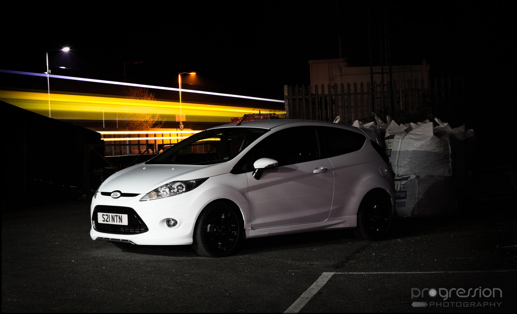 Photograph Ford Fiesta Passing Train - Long Exposure by Tom Crane on 500px