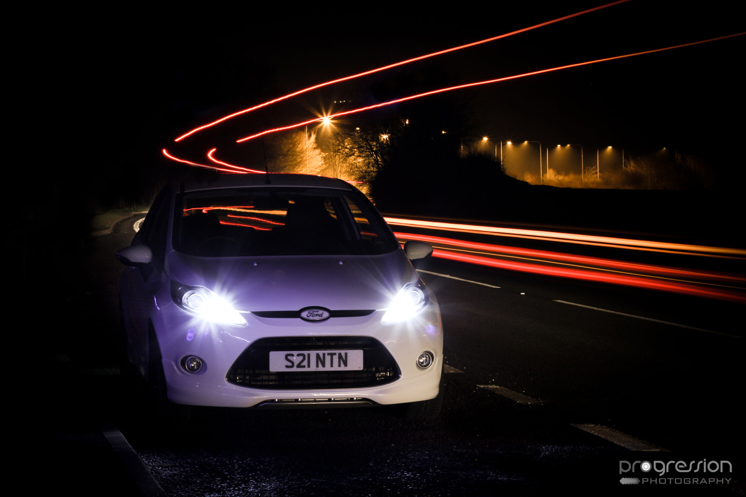 Photograph Ford Fiesta Light Trails by Tom Crane on 500px