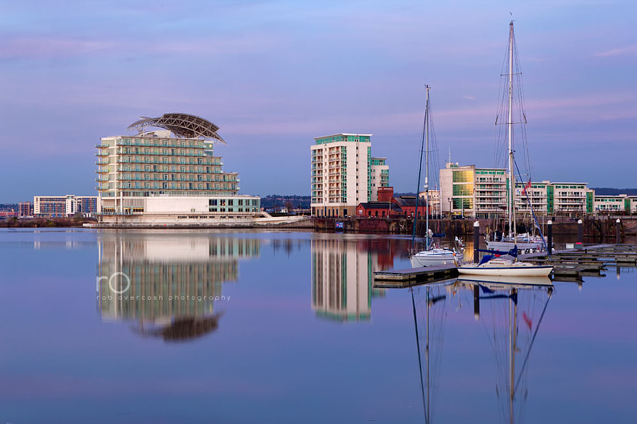 Dawn in Cardiff Bay