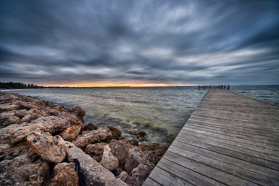 Photograph Dramatic Sunset at Bahai Beach by Ellen Yeates on 500px