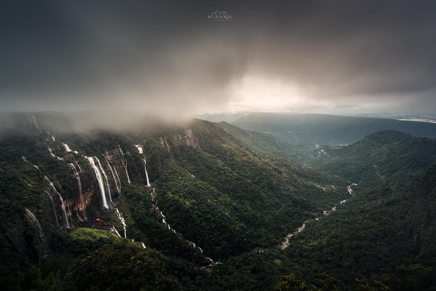 Seven Sister Falls Cherrapunji
