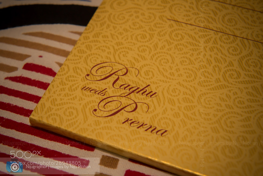 Photograph Wedding Invitation by Niju Mohan on 500px