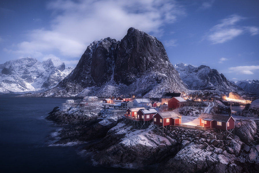Moonlight in Hamnoy by Daniel Fleischhacker | 500px.com