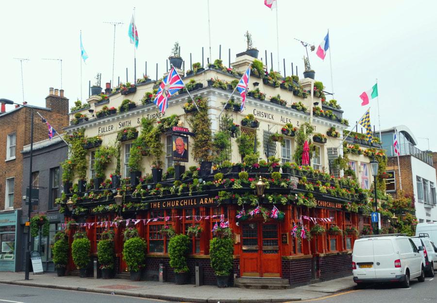 The Churchill Arms, London by Sandra  on 500px.com