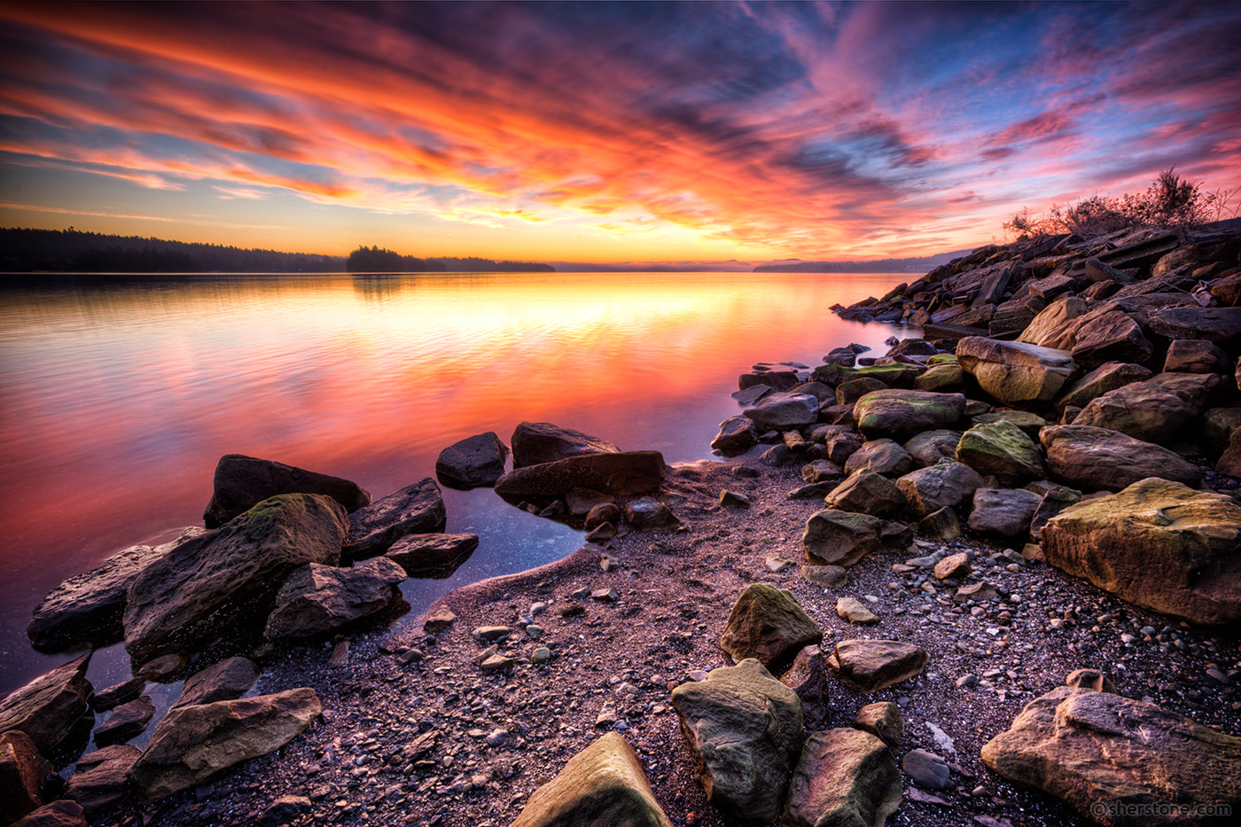 Photograph waveless waterfront welcomes welkin by Sean Sherstone on 500px