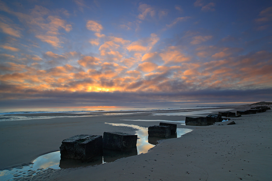 Sunrise at Warkworth Beach