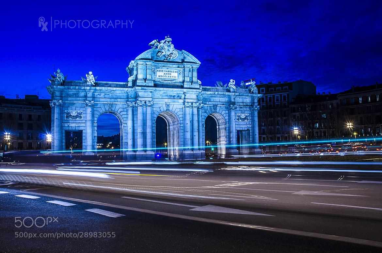 Photograph Blue (Puerta de Alcalá Madrid) by Rui Xu on 500px