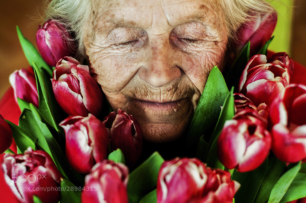Photograph Lady and the Flowers [tribute to my grandma] by Jakub Nowak on 500px