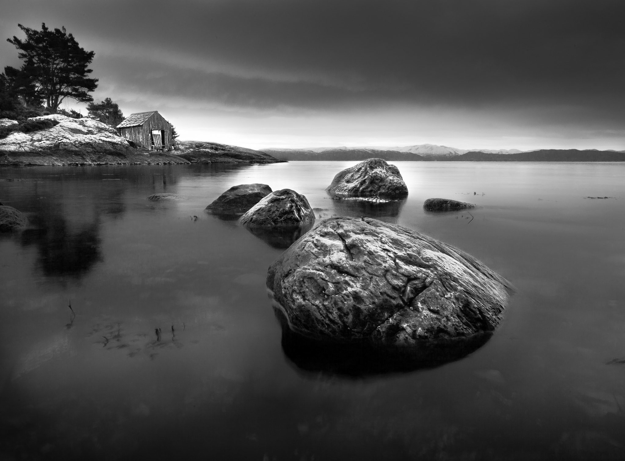 Photograph sea house and tin snow layer  by Bjarte Haugland on 500px