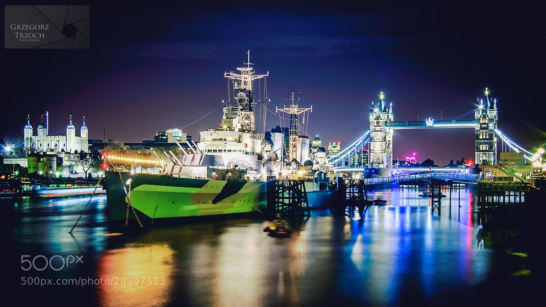 Photograph HMS Belfast & Tower Bridge by Grzegorz Trzoch on 500px