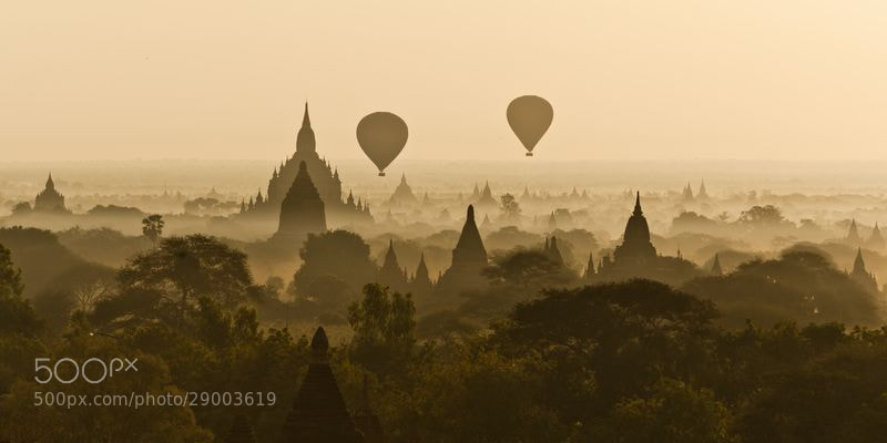 Photograph Sunrise on Bagan (Burma) by David_Michel on 500px