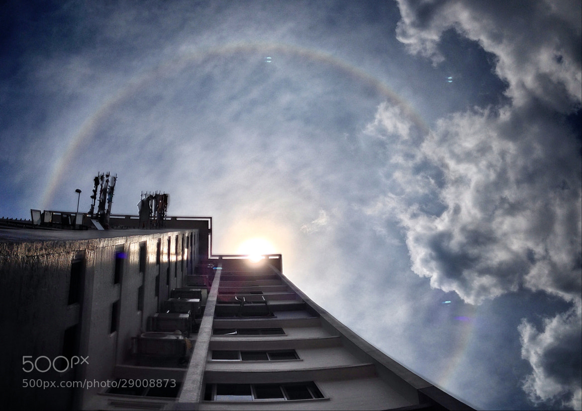 Photograph Rare full circle rainbow (sun halo) at noon by Teelip Lim on 500px
