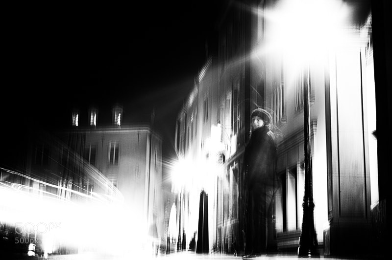 Photograph swallowed by light @ night by Vero Nick on 500px