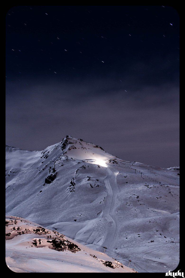 Photograph stars and mountain by Romain Dudu Dujean on 500px