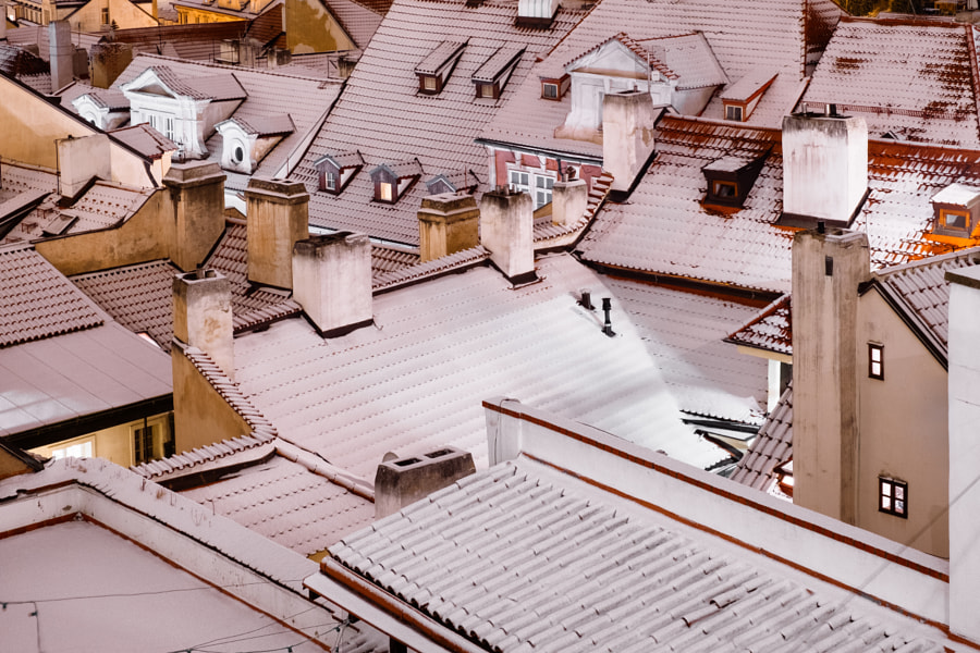Prague Red Roofs White by Dal Røi on 500px.com